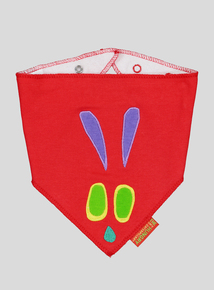 The Very Hungry Caterpillar Red Hanky Bib (one size)