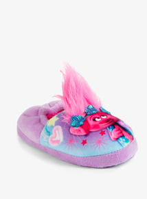 Online Exclusive Purple Trolls Slippers (7 Infant - 1 Child)