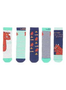Multicoloured Five Pack Gruffalo Socks