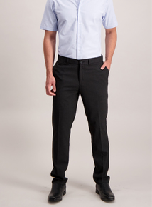 Black Textured Smart Trousers