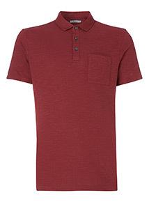Dark Red Marl Polo Shirt