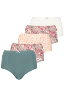 Multicoloured Full Knickers 5 Pack