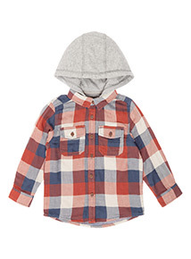 Multicoloured Check Hooded Jersey (9 months-6 years)