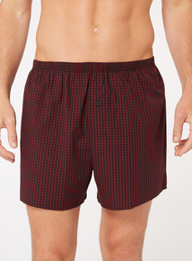 3 Pack Red Checked Boxers