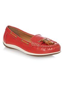 Red Leather Tassel Loafer