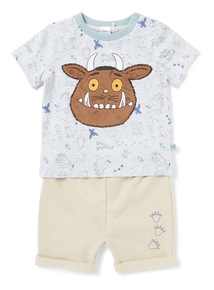 Grey Gruffalo T-Shirt and Shorts Set (0-24 months)