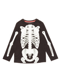 Black Halloween X-RAY Skeleton Tee (3-14 years)