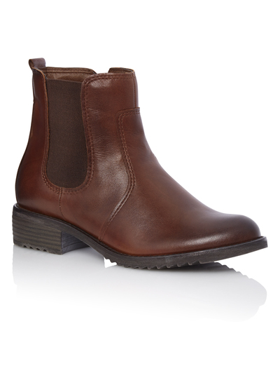 Womens Brown Leather Chelsea Boots  5ce83c6f0905