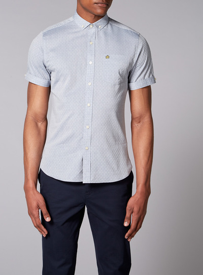 Admiral Light Blue Jacquard Shirt