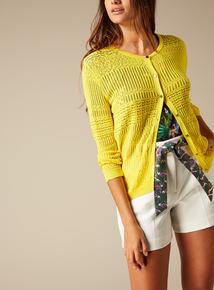 Premium Pointelle Knit Cardigan