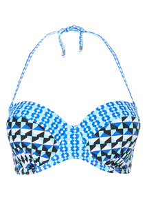 Online Exclusive Geo Print Bikini Top