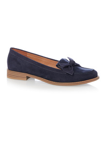 Navy Knot Loafer