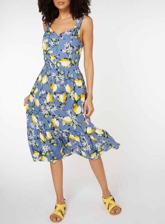 Womens Lemon Print Sundress | Tu clothing