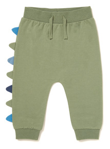 Green Dinosaur Embroidered Joggers (0-24 months)