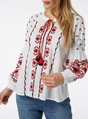 Thumbnail of SKU VOODOO EMBROIDERED SLEEVE TOP - G3 Apr- CONF:White