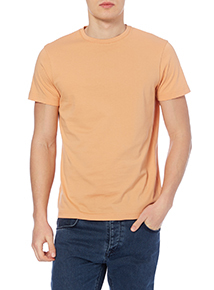 Orange Basic Crew T-shirt