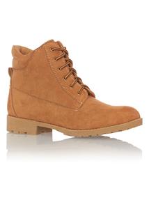 Tan Construction Boots