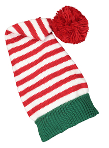 Christmas Multicoloured Elf Pom-Pom Hat