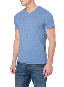Light Blue V-neck T-shirt