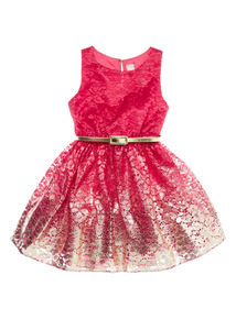Pink Lace Foil Dress (3-14 years)