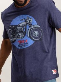 Blue Motorcycle T-Shirt ea99631a9