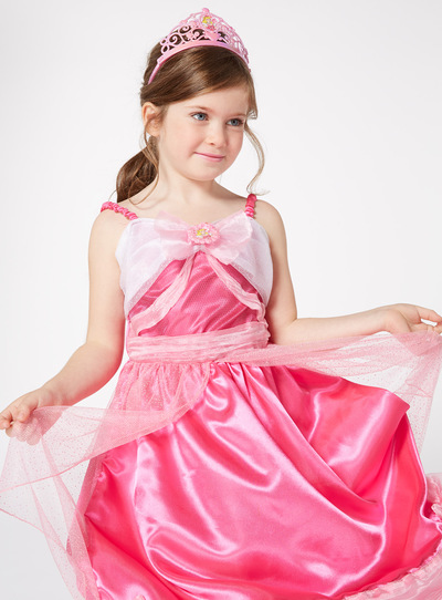 Pink Disney Cinderella Costume With Tiara (2-10 years)