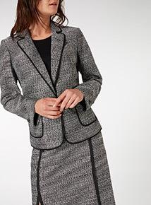 Grey Tipped Blazer