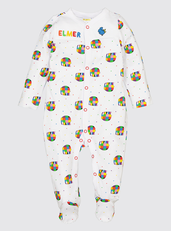 0067978f35ce Baby Elmer Multicoloured Sleepsuit (0-24 Months)