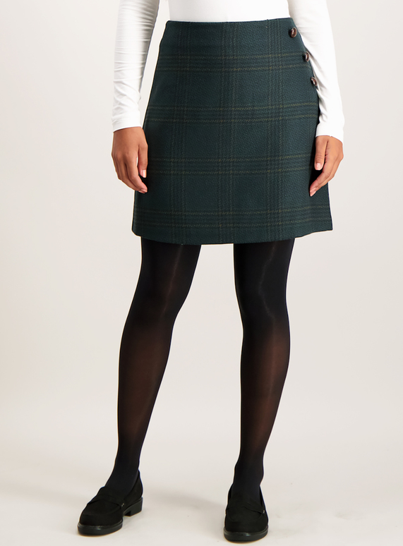 Green Check Mini Skirt