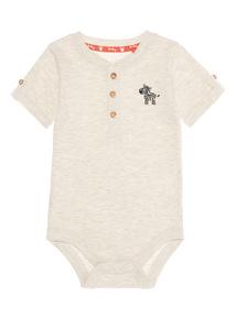 Oatmeal Safari Jersey Bodysuit (0 - 24 months)