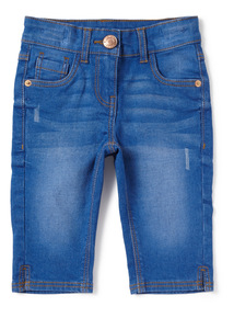 Bright Blue Denim Capri Jeans (3-14 years)