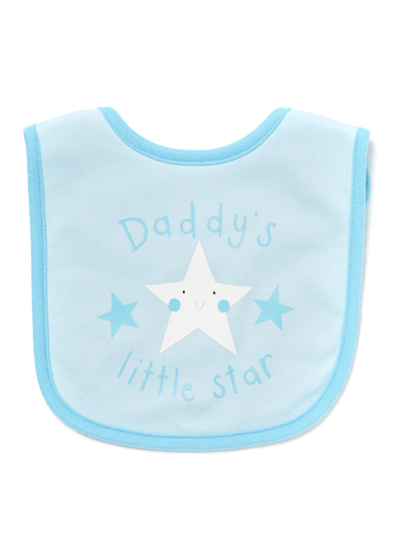 Blue Daddys Little Star Bib