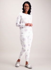 Christmas Snowflake White Pyjamas