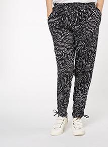 Monochrome Print Draper Trouser