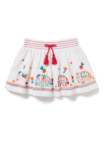 White Embroidered Skirt (9 months-6 years)