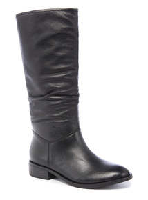 Leather Calf Slouch Boots