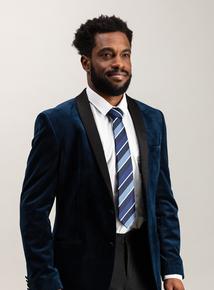 Blue Club Stripe Tie