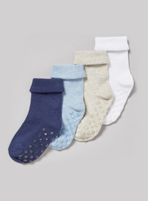 4 Pack Multicoloured Roll Top Socks (0-24 months)