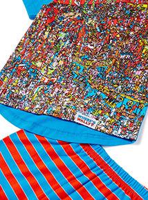 Multicoloured Where's Wally Pyjama Set (3-14 years)