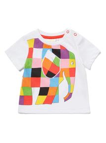 White Elmer Printed Short-Sleeved T-Shirt (0-24 months)