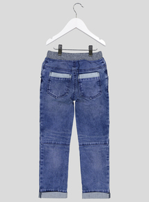 Blue Denim Space Patch Jeans (9 months - 6 years)