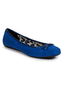 Online Exclusive Blue Square Toe Ballerina Pumps
