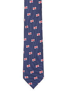 Online Exclusive Navy England Flag Tie