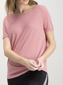 Active Pink Twist Back T-Shirt