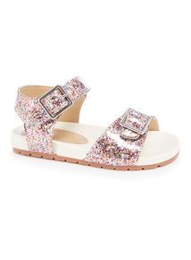 Glitter Buckle Sandals