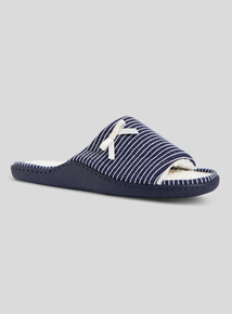 a112adc3ba8ce1 Navy Stripe Mule Slippers