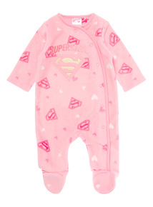 Girls Pink Superbaby All-In-One (0-24 months)