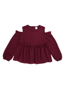 Purple Cold Shoulder Top (3-12 years)