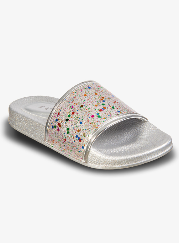 2ccaa1189e3d Kids Silver Glitter Slider (6 Infant - 4) | Tu clothing