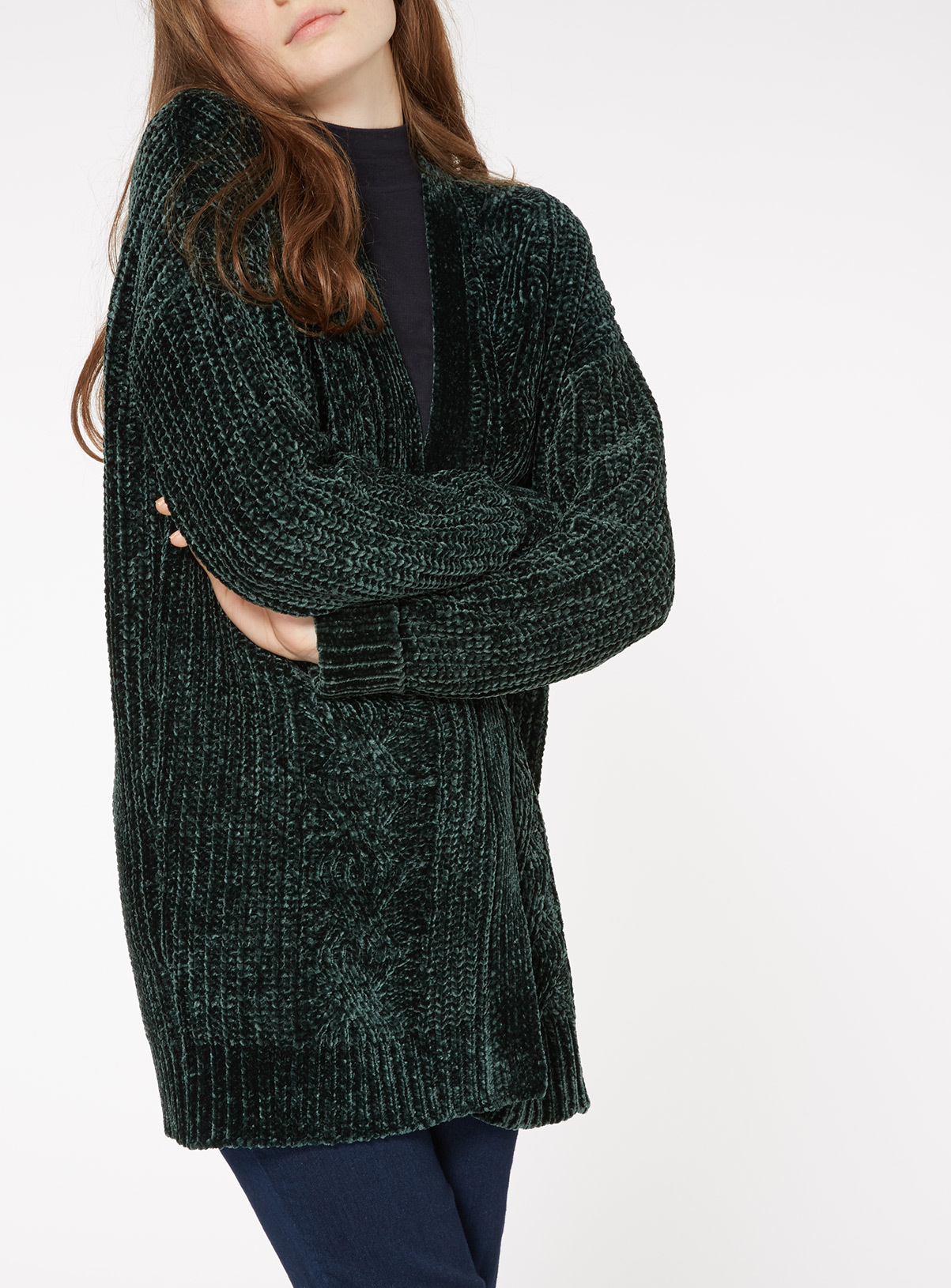 Womens Chenille Cable Knit Cardigan | Tu clothing